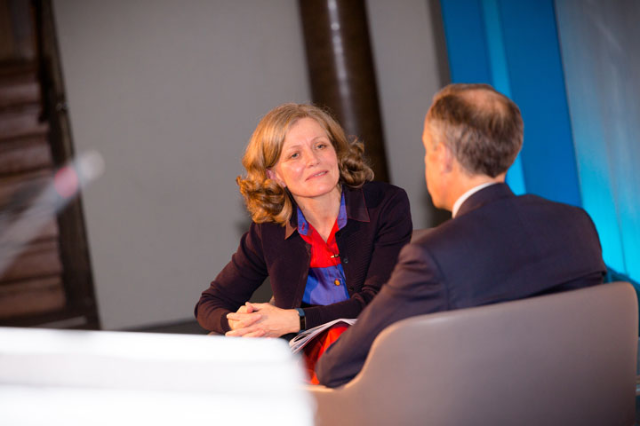 Mark Carney and Emma Howard Boyd, speaking at A4S Summit 2016